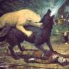 Притча за вълка и кучето-пастир в нас