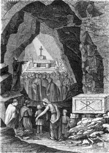 Early-Christians-Worship-in-the-Catacombs-of-Saint-Calixtus