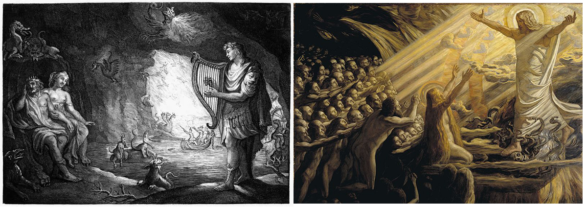 Орфей в подземного царство и Слизането на Христос в Хадес