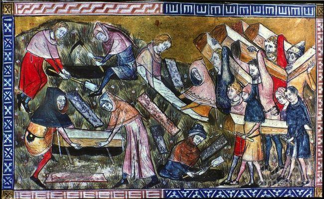 Фламандски ръкопис, Черна смърт, 1349 г.